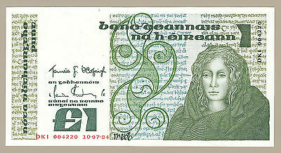 1984 CENTRAL BANK OF IRELAND £1 NOTE, P70c, CHOICE CRISP UNCIRCULATED