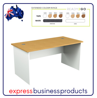 Ready 2 Go Office Desk 2 Cable Holes (DK) - Assorted Dimensions and Colours