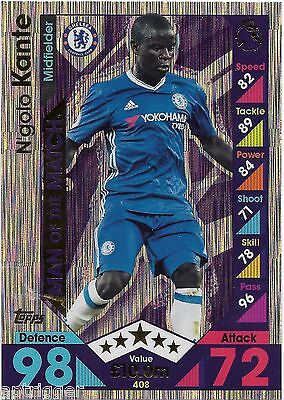 2016 / 2017 EPL Match Attax Man of the Match (408) N'golo KQANTE Chelsea