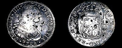 1796-FM Mexico 8 Reales Silver Coin -Suspected Class 1 Silver UnReal Reales