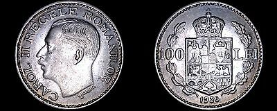 1936 Romanian 100 Lei World Coin - Romania
