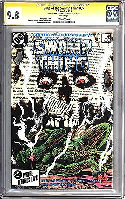 * Saga of the Swamp Thing #35 SS CGC 9.8 Signed by Totleben (0200300005) *