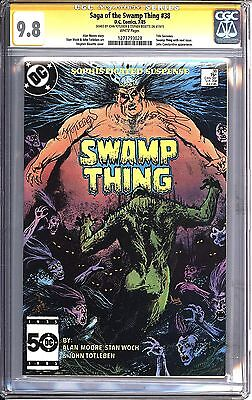 * SWAMP Thing #38 SS CGC 9.8 Signed Totleben, Bissette (1273793028)*