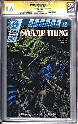 * Swamp Thing Annual #4 SS CGC 9.6 Totleben, Bissette Batman! (1273796013)*