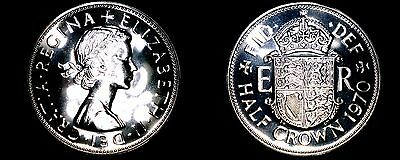 1970 Great Britain Half (1/2) Crown Proof World Coin - UK
