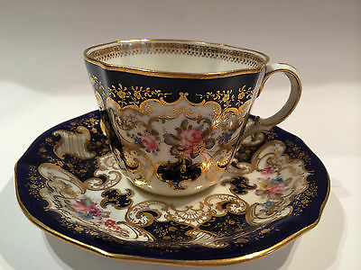 Antique Royal Crown Derby Hand Painted Cup and Saucer Circa 1911