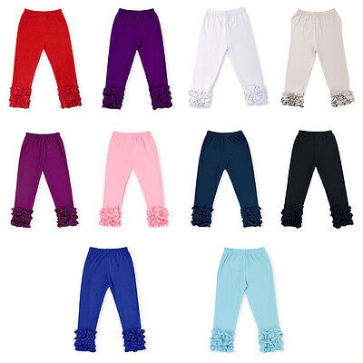 New Ruffle Pants Baby Girls Toddler Kids Princess Icing Ruffled Legging Bottoms