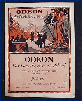 July 1927 Odeon List Of German Records, Okeh Phonograph Corp., New York City