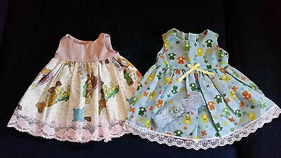 """2 Cute Cotton Outfits To Fit Baby Born Dolls (16""""-17"""")"""