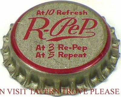 Unused Malvern Arkansas 1950s R-Pep Soda Cork Crown Tavern Trove