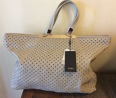 Authentic SABA Doncaster Tote Bag Leather RRP $299 BNWT