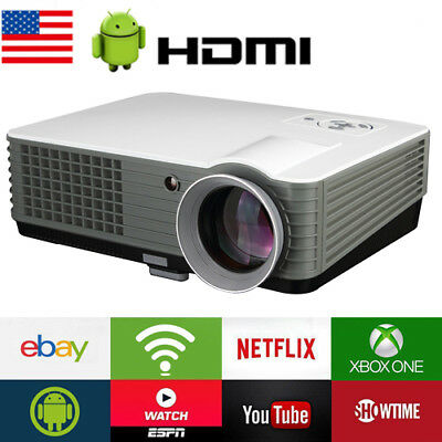 3500 Lumen Home Theater Multimedia WIFI USB HDMI 1080P Full HD LCD LED Projector