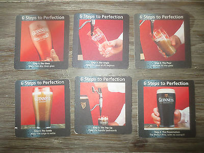set of  6 GUINNESS BREWERY,Overseas Issue BEER collectable COASTERS,