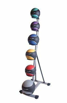 CAP Barbell Rubberized Medicine Ball Set Rack 6 Fitness Balls Weighted Bouncing