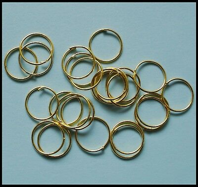 Jump Rings GOLD tone 12mm x 100 findings for suncatcher craft jewelry etc