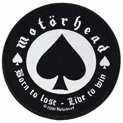Motorhead Born To Lose Iron On Patch Embroidered Retro Tattoo Metal Punk Lemmy