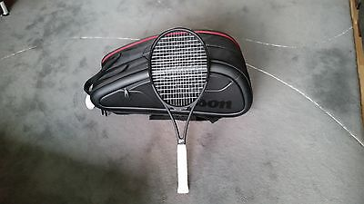 New Wilson Pro Staff RF 97 Autograph racket and Wilson Federer DNA 12 pack bag