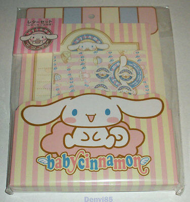 VERY CUTE & HTF! 2002 Sanrio BABY CINNAMON Stationery Set #2 from JAPAN! NEW!