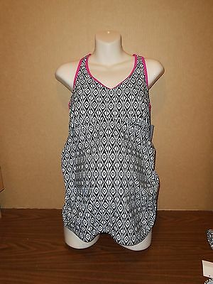 New Oh Baby Maternity Swimsuit Size XL Black/Pink Tankini 2 piece $60
