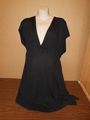 New Oh Baby Maternity Cover Up Size 1X Top Swimsuit Plus Size Shirt Black $44