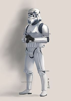 Stormtrooper Sketch direct from the artist. A4 STAR WARS art / print
