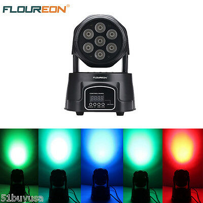 100W LED Moving Head Light DMX 512 9/14CH 4 In 1 RGBW Stage Effect Lighting