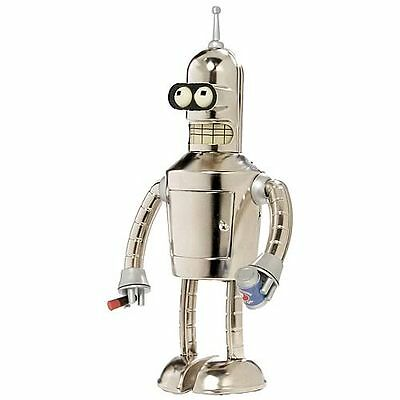 Official Futurama Bright N' Shiny Bender Wind-Up Robot Action Toy BRAND NEW