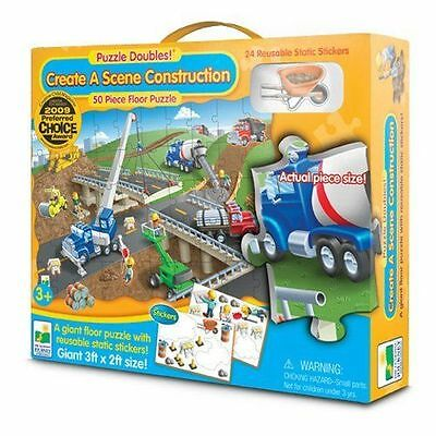 Education Toy Puzzle Doubles Create A Scene Construction Floor Puzzle Learn 3+