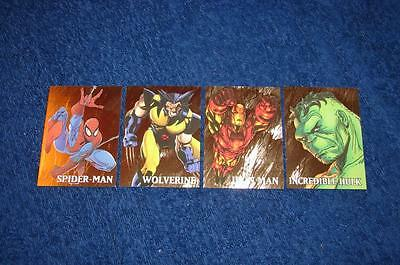 1998 Marvel Creators Collection Gold Chase Set Of 4 Cards (Ns616)