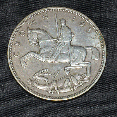 George V 1935 silver crown coin