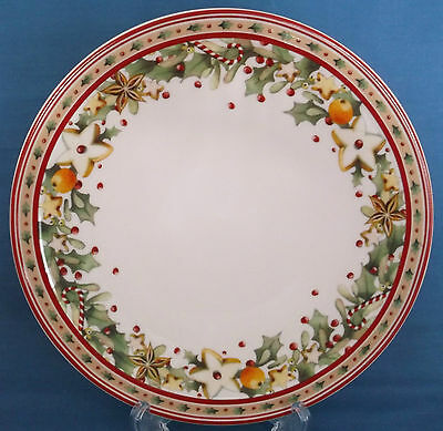 New Villeroy & Boch Winter Bakery Delight Christmas Plate Holly Berries