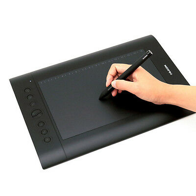Huion H610 Pro USB Art Graphics Drawing Tablet +Rechargeable Pen for Windows Mac