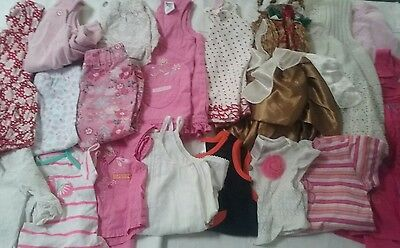 Bulk Baby Girls size 000-00-0 Clothes.Tops, Jeans, Dresses, Cardigans. 18 Items!