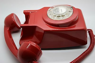 Genuine GPO 741 Red Wall Mount Rotary Pulse Dial Telephone