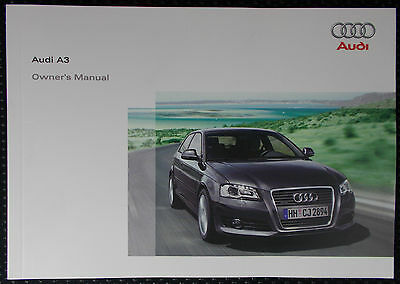 Genuine Audi A3 8P 3Dr Owners Manual Handbook - 11/2008 Edition