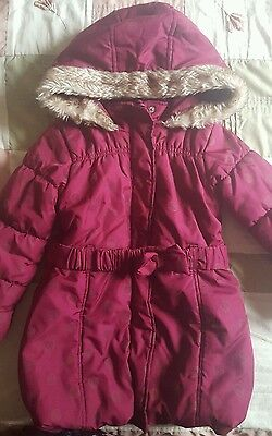Girls  Padded Hooded Winter Coat size 3-4yrs