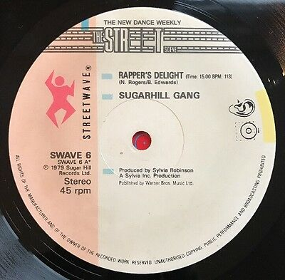 "Sugarhill Gang - Rappers Delight Limited Edition 12"" Streetwave Records"