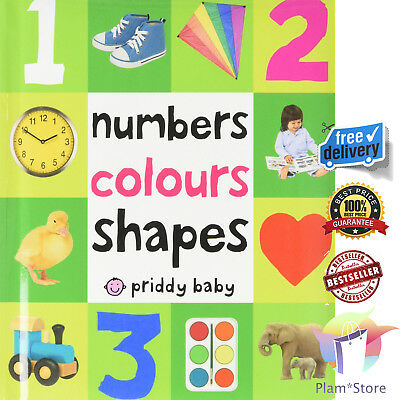 First Number Colours Shapes Children Books Early Learning Board Toddlers Kid New