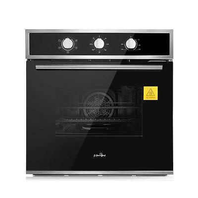 60Cm Stainless Steel Fan-Forced Built-In Electric Wall Oven 5 Functions