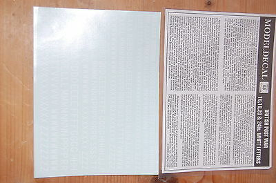 Model Decal - British Post white letters - 1/72