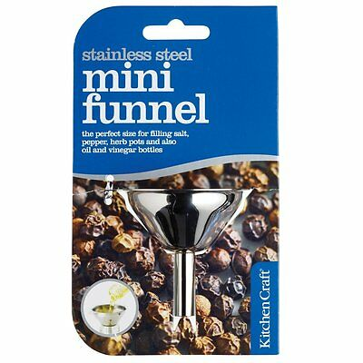 Kitchen Craft Stainless Steel Mini Funnel 5.5cm