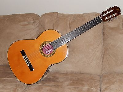 Hand Made In Japan Great Vintage Kiso Suzuki Takeharu Gt300 Classical Guitar