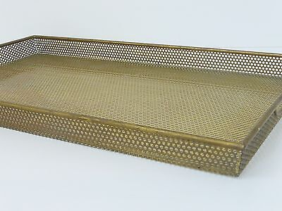 Mathieu Mategot : Superb & Rare Plateau Sheet Metal Perforated & Glass 50