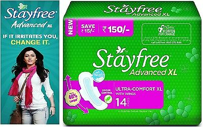 Stayfree Advanced Ultra Comfort - XL 14 PADS -Free Shipping to AUS & Worldwide