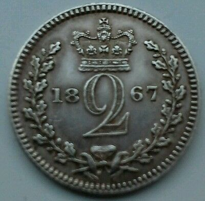 1867 Queen Victoria Maundy Twopence