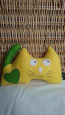 Colin the Cat Soft Toy Yellow