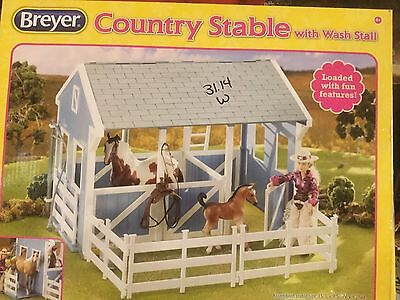 Horse Toys For Girls Breyer Classics Country Stable with Wash Stall