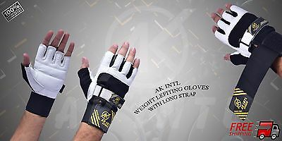 AK INTL Weight Lifting Gloves Gym Fitness Gloves,Exercise Bodybuilding Long Stra