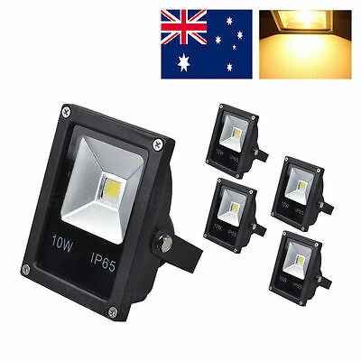 5pcs warm white floodlights 10w lamp outdoor security  Landscape IP65 high power