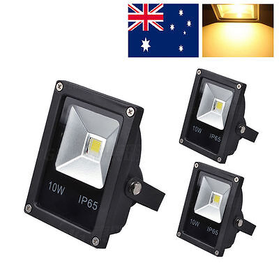 3pcs warm white floodlights 10w IP65 high power lamp outdoor security  Landscape